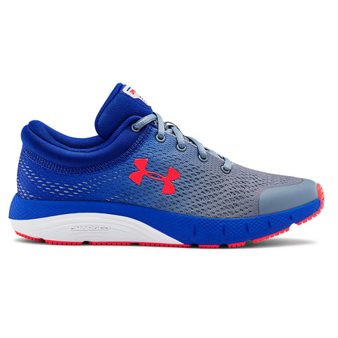 UNDER ARMOUR BOYS GRADE SCHOOL BANDIT KIDS SHOE GREY/ROYAL/RED