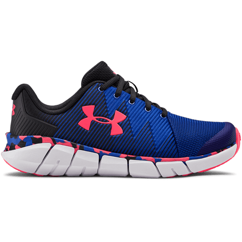 UNDER ARMOUR BOYS GRADE SCHOOL X LEVEL SCRAMJET KIDS SHOE BLACK/ROYAL/BETA