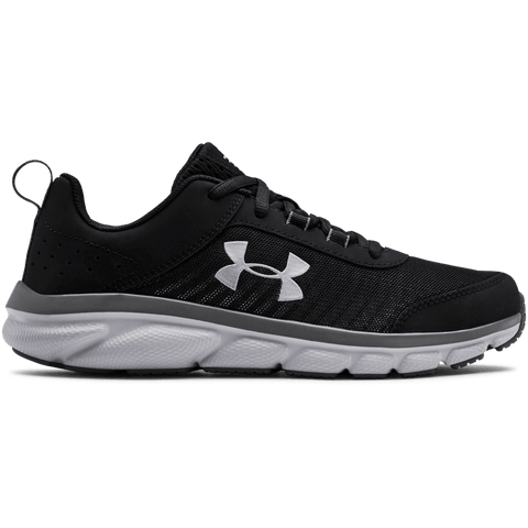 UNDER ARMOUR GIRLS GRADE SCHOOL ASSERT 8 KIDS SHOE BLACK/GREY/GREY