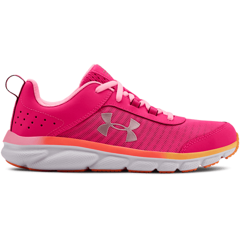 UNDER ARMOUR GIRLS GRADE SCHOOL ASSERT 8 KIDS SHOE PINK/WHITE/ROSE GOLD