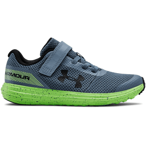 UNDER ARMOUR BOYS PRE-SCHOOL SURGE RN AC KIDS SHOE GREY/LIME/BLACK