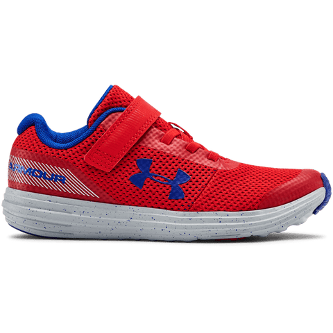 UNDER ARMOUR BOYS PRE-SCHOOL SURGE RN AC KIDS SHOE RED/GREY/ROYAL