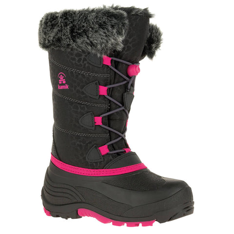 KAMIK GIRLS SNOWGYPSY 3 -40C WATERPROOF WINTER BOOT BLACK/ROSE
