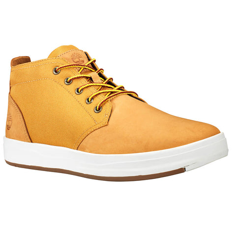TIMBERLAND MEN'S DAVIS SQUARE CHUKKA WINTER BOOT WHEAT NUBUCK