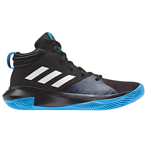 ADIDAS KIDS PRO ELEVATE BLACK/BLUE/WHITE BASKETBALL SHOE