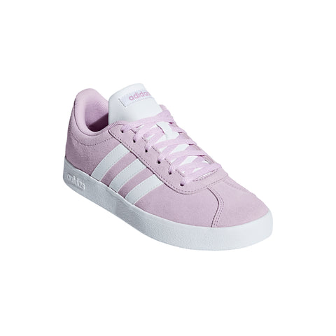 ADIDAS GIRLS VL COURT 2.0 LILAC/WHITE/WHITE LIFESTYLE SHOE SIDE