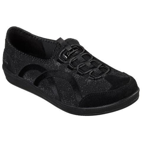 SKECHERS WOMEN'S MADISON AVE - URBAN GLITZ BLACK/SILVER LIFESTYLE SHOE