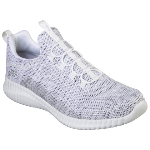 SKECHERS MEN'S ELITE FLEX- WESTERFELD WHITE/BLACK LIFESTYLE SHOE