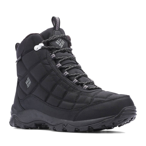 COLUMBIA MEN'S FIRECAMP -32C WATERPROOF WINTER BOOT BLACK/CRY