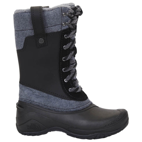 THE NORTH FACE WOMEN'S SHELLISTA III MID WINTER BOOT BLACK/ZINC GREY