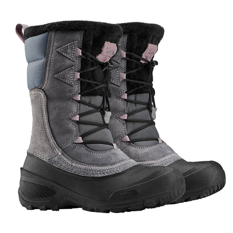 THE NORTH FACE GIRLS SHELLISTA LACE IV WINTER BOOT GREY/PURPLE