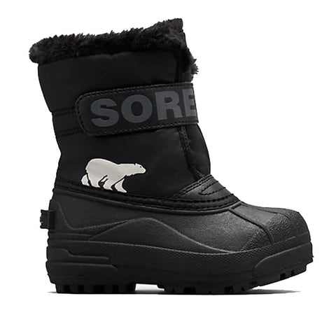 SOREL BOYS SNOW COMMANDER -32C WATERPROOF WINTER BOOT BLACK/CHARCOAL