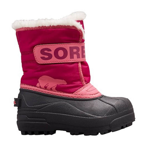 SOREL GIRLS SNOW COMMANDER -32C WATERPROOF WINTER BOOT TROPIC PINK/DEEP BLUSH