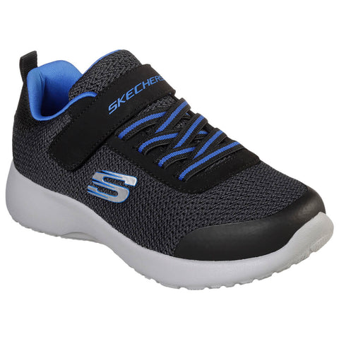 SKECHERS BOYS DYNAMIGHT - ULTRA TORQUE KIDS SHOE BLACK TEXTILE/ROYAL TRIM
