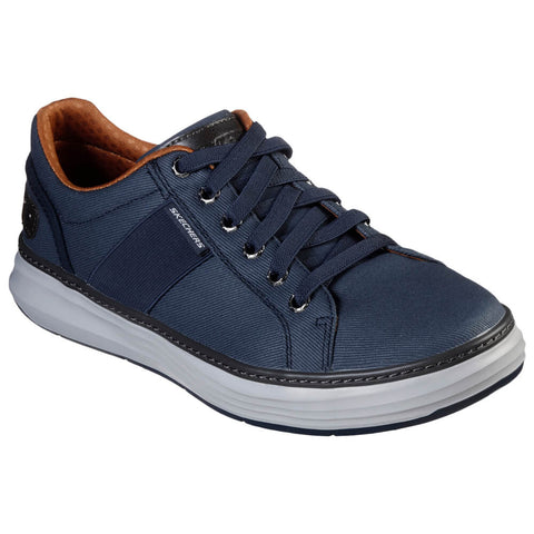 SKECHERS MEN'S MORENO-RIDSON LIFESTYLE SHOE NAVY