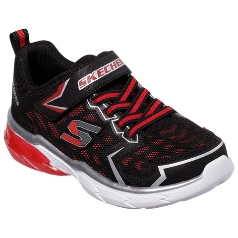SKECHERS BOYS PRE-SCHOOL THERMOFLUX-NANO GRID KIDS SHOE BLACK/RED