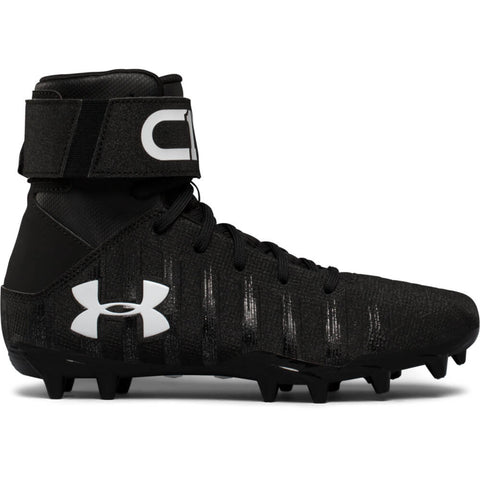 UNDER ARMOUR JUNIOR C1N MC FOOTBALL CLEAT BLACK