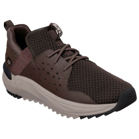 SKECHERS MEN'S VERLAN-RONDER LIFESTYLE SHOE BROWN