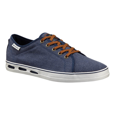 COLUMBIA MEN'S VULC N VENT SHORE LACE LIFESTYLE SHOE COLLEGIATE NAVY