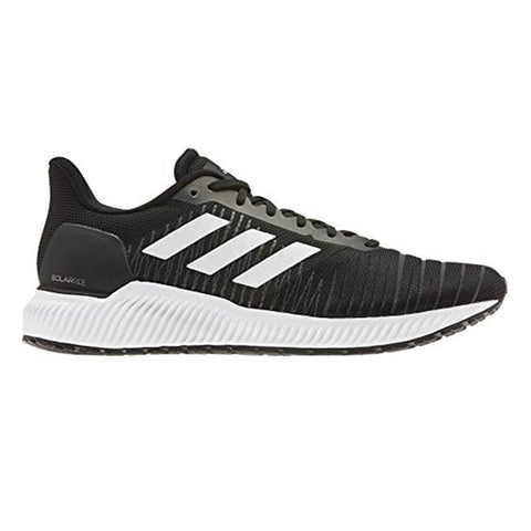 ADIDAS MEN'S SOLAR RIDE RUNNING SHOE BLACK/WHITE