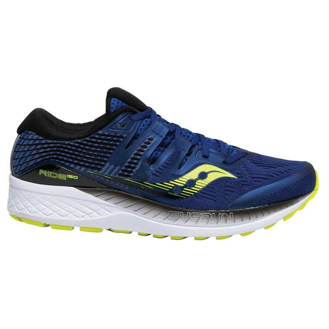 SAUCONY MEN'S RIDE ISO RUNNING SHOE NAVY/CITRON