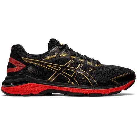 ASICS MEN'S GT-2000 7 RUNNING SHOE MUGEN BLACK/RICH GOLD