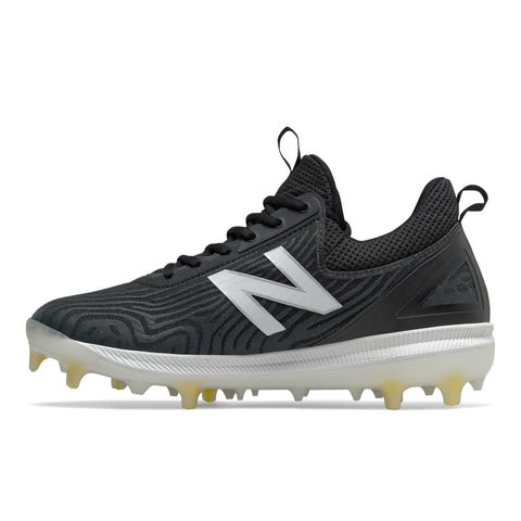 NEW BALANCE MEN'S COMP V2 WIDTH D BASEBALL CLEAT BLACK/WHITE