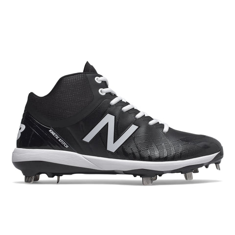 NEW BALANCE MEN'S M4040 V5 MID BASEBALL CLEAT BLACK/WHITE