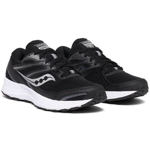 SAUCONY WOMEN'S COHESION 13 WIDE RUNNING SHOE BLACK/WHITE