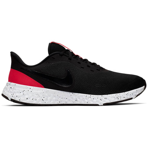 NIKE MEN'S REVOLUTION 5 RUNNING SHOE BLACK/ANTHRACITE/RED/WHITE