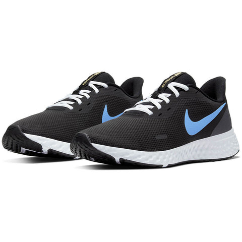 NIKE MEN'S REVOLUTION 5 RUNNING SHOE BLACK/BLUE/ORANGE/WHITE