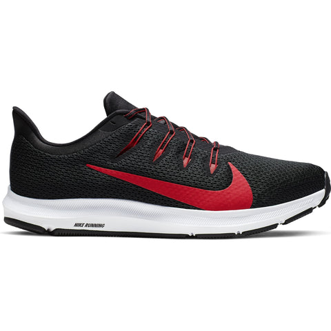 NIKE MEN'S QUEST 2 RUNNING SHOE BLACK/RED/WHITE