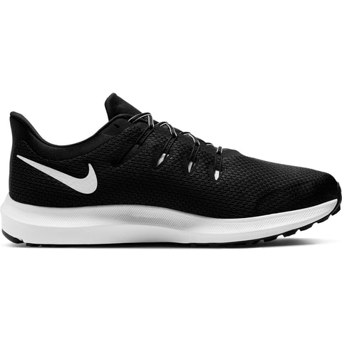 NIKE MEN'S QUEST 2 WIDE RUNNING SHOE BLACK/WHITE