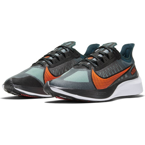 NIKE MEN'S ZOOM GRAVITY HKNE MID RUNNING SHOE TURQUOISE/CRIMSON/BLACK