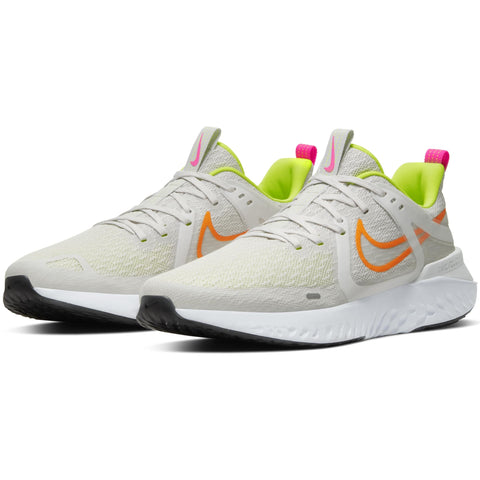 NIKE MEN'S LEGEND REACT 2 RUNNING SHOE PLATINUM TINT/ORANGE/LEMON