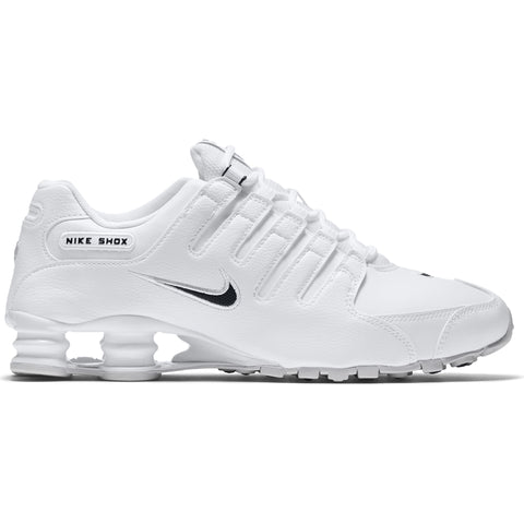 NIKE MEN'S SHOX NZ EU LIFESTYLE SHOE WHITE/BLACK