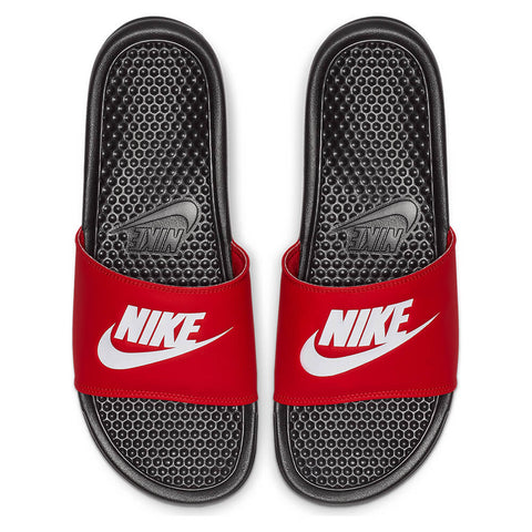 NIKE MEN'S BENASSI JDI SLIDE BLACK/WHITE/RED