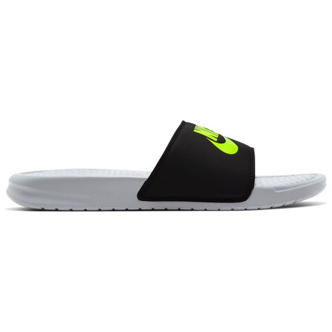 NIKE MEN'S BENASSI JDI SLIDE WOLF GREY/VOLT/BLACK