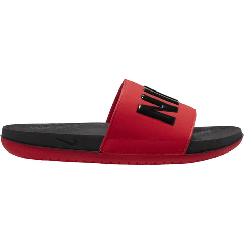 NIKE MEN'S OFFCOURT SLIDE BLACK/BLACK/RED