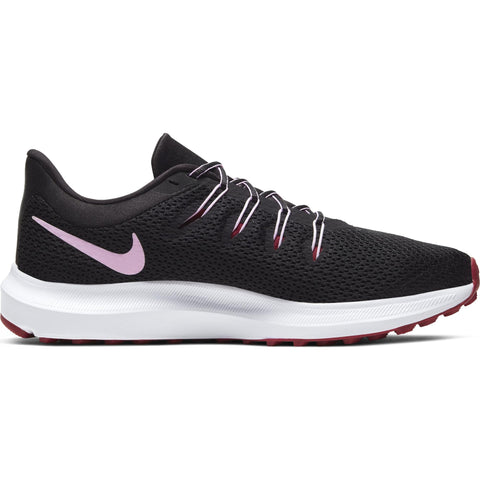 NIKE WOMEN'S QUEST 2 RUNNING SHOE BLACK/ICED LILAC/NOBLE RED
