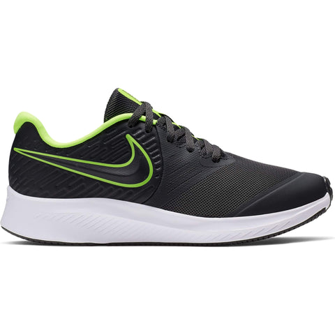 NIKE BOYS GRADE SCHOOL STAR RUNNER KIDS SHOE ANTHRACITE/GREEN/WHITE