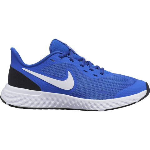 NIKE BOYS GRADE SCHOOL REVOLUTION 5 KIDS SHOE BLUE/WHITE/BLACK