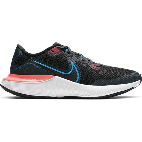 NIKE BOYS GRADE SCHOOL RENEW RUN KIDS SHOE BLACK/BLUE/CRIMSON