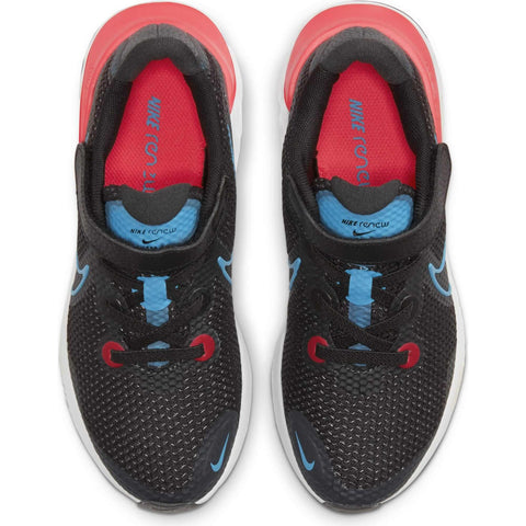 NIKE BOYS PRE-SCHOOL RENEW RUN KIDS SHOE BLACK/BLUE/CRIMSON