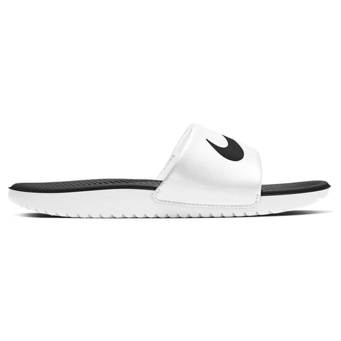 NIKE KIDS KAWA SLIDE WHITE/BLACK