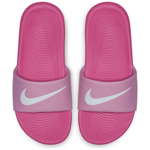 NIKE KIDS KAWA SLIDE PINK/WHITE/FUSCHIA