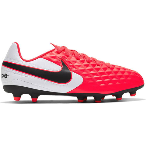 NIKE JUNIOR LEGEND 8 CLUB MG SOCCER CLEAT CRIMSON/BLACK/WHITE