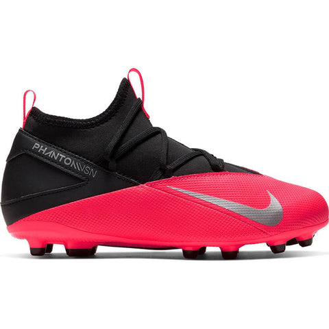 NIKE JUNIOR PHANTOM VSN 2 CLUB FG SOCCER CLEAT CRIMSON/BLACK/WHITE
