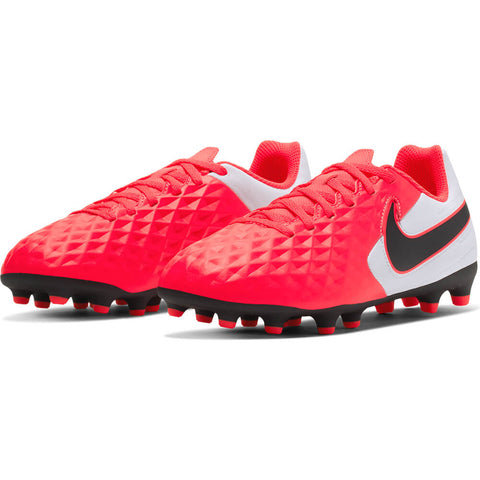 NIKE UNISEX LEGEND 8 CLUB FG SOCCER CLEAT CRIMSON/WHITE