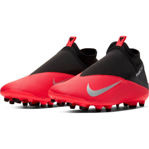 NIKE UNISEX PHANTOM VISION CLUB FG SOCCER CLEAT CRIMSON/BLACK